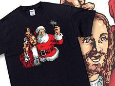 Jesus/Santa Bff Selfie T-Shirt $14.00.....BARGAIN!  shareasale.com/r.cfm?u=120173…