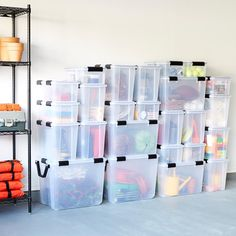 The Container Store: Storage, Organization & Custom Closets – Garage Organization DIY Shop Storage, Storage Bins, Storage Drawers, Storage Containers, Storage Ideas, Plastic Containers, Garage Shelving, Garage Storage, Locker Storage