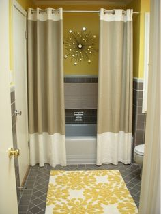 Two Shower Curtains - Changes the Whole Feel of the Bathroom