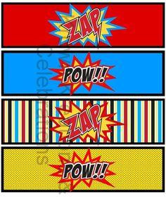 Free printable bookmark superman | Printables - Superheroes Party for Spiderman, Batman and Superman ...