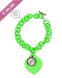 Bracciale Ops!Love Verde Shiny Fluo