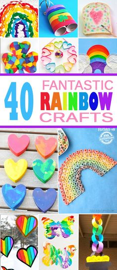 40 Fantastic Kids Rainbow Crafts | Kids Activities Blog