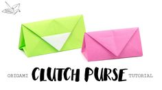 Origami Clutch Purse Tutorial  DIY  Paper Kawaii #origami #paperkawaii