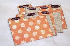 Recipe Box Dividers for Orange Polka Dot  Light Burlap by msw2011, $15.00