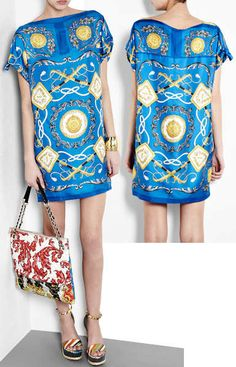 D Silk Scarf Print Dress WANNTT Silk T Shirt, Shirt Dress, Robes Imprimées, dcc7201c68f9