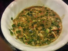 Heaven dipping Sauce (Tirk Prohok) gredients 1 tablespoon of fresh fine minced gangala 1 cup of very fine minced lemon grass 1 tablespoon minced garlic, about 5 to 6 cloves 2 to 3 teaspoons of MSG 5 to 6 tablespoons of fermented fish paste 3 to 4 tablespoons of sugar a handful of mint leaves a handful of basil leaves 5 Thai eggplants, sliced and seeded 6 Thai chili peppers (red and green) 1 tablespoons of lime zest 6 to 7 kaffir lime leaves, shredded 1 lime juice