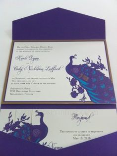 Peacock Invites love these colors Melissa Peacock Theme, Peacock Wedding, Wedding Bells, Fall Wedding, Wedding Ideas, Invites, Wedding Invitations, Wedding Signage, Peacocks