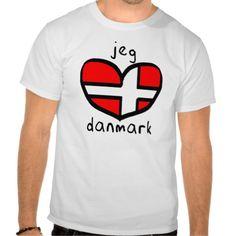 Jeg Elsker #Danmark Tee Shirts #Denmark