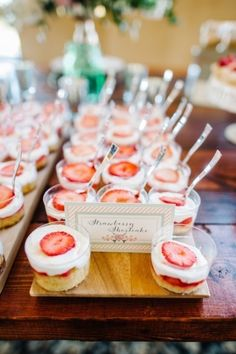 Desert Bar Inspiration: Mini strawberry shortcakes! (Photo by Best Photography, Desserts: Two Sweets Bake Shop... via Every Last Detail)