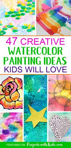 41 Trendy ideas for flowers art projects for kids preschool learning Watercolor Art Diy, Watercolor Projects, Watercolor Paintings, Watercolors, Painting Art, Group Art Projects, Art Projects For Teens, Art Videos For Kids, Art For Kids