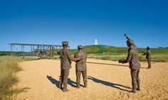 Wright Brothers National Memorial in #OBX. The grounds include historical markers of each attempted powered flight and a 60-foot granite monument on top of Big Kill Devil Hill.