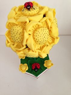 Arranjo de flores de tecido
