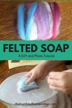 I love learning how to do and make things myself. This felted soap DIY is so simple and fun to make. The completed project makes a great gift for the special people in your life! Photo Tutorial, Diy Tutorial, Felted Soap Tutorial, Great Christmas Presents, Felt Fabric, Nuno Felting, Felt Diy, Special People, Wool Felt