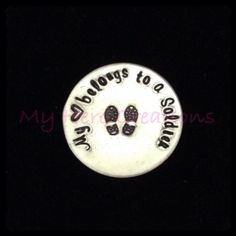 CUSTOM HandStamped Military Support Floating by MyHeroCreations, $12.00
