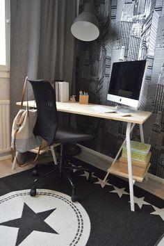 Työtuolin alle kannattaa laittaa siläksi kudottu matto, mikä ei ruttaannu helposti ja on erittäin helppo pitää puhtaana. www.mattokymppi.fi