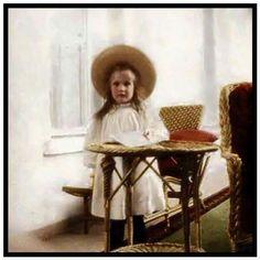 "Grand Duchess Anastasia Nikolaevna Romanova of Russia (colourised). ""AL"""