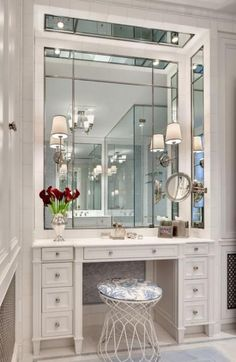 68 Ideas Bathroom Closet Vanity Dressing Tables For 2019 Walk In Closet Design, Bedroom Closet Design, Closet Designs, Room Decor Bedroom, Dressing Room Decor, Dressing Room Design, Dressing Tables, Dressing Table In Bathroom, Dressing Rooms