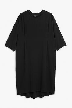 Monki Image 1 of Wide fitting dress in Black