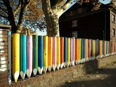 funky boundary wall designs for play schools - Google Search