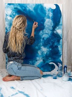 Att fånga isens sång och vinterns själ – Painting on jeans - Hybrid Elektronike Art And Illustration, Illustrations, Artist Painting, Painting & Drawing, Tattoo Passion, Jonna Jinton, Art Hoe Aesthetic, Art Studios, Love Art