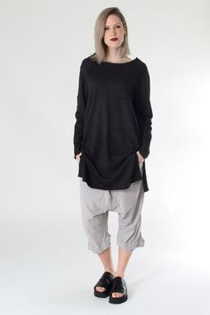 Jersey Sweater from Nelly Johansson Summer 2016 #nelly #nellyjohansson #selectmode #fashion #jerseysweater #sweater #pullover #black #mode #new #newcollection #summer #sweden