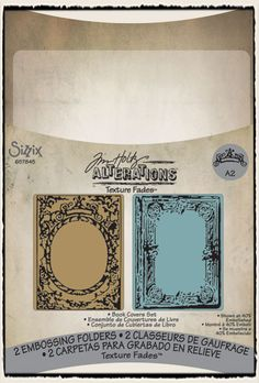 Tim Holtz / Sizzix - Texture Fades: Book Covers Set - CHA Winter 2012