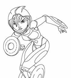 Big Hero 6 Målarbilder för barn. Teckningar online till skriv ut. Nº 17