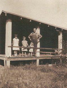 Papaw Ham with Hazel, Vivian and Cotton (I think)