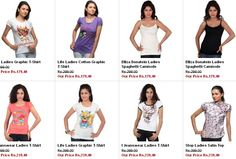 T-Shirts Tops at Rs.179.40   Free Shipping @ Shoppersstop