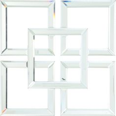 A/&B Home Ariana Square Glass Boxes Set of 2