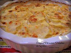 Creamy Parmesan Potatoes Au Gratin Recipe Excellent. Made in deep dish pie pan