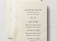 Traditional: Simple but elegant, traditional wedding invitations have stood the test of time. Always in style, classic and beautiful, traditional designs are never old-fashioned.