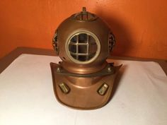 #Copper & brass scuba diving helmet #decor #nautical ocean sea maritime vintage,  View more on the LINK: http://www.zeppy.io/product/gb/2/111788610149/