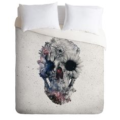 Ali Gulec Floral Skull 2 Duvet Cover. This is pretty cool!!