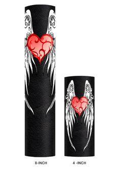 Heart & White Wings - Hair Glove