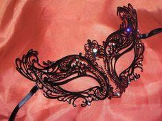 New to TheCraftyChemist07 on Etsy: Petite Metallic Filigree Masquerade Mask (23.95 USD)