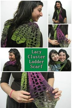 Share this: Crochet pattern that teaches you how to crochet a cute lacy scarf for spring or fall. 1 skein project that works up fast!  You can find more things like this under the categorySCARVES  Lacy Cluster Ladder Scarf– Free Crochet Pattern This page contains affiliate links   For this project you …