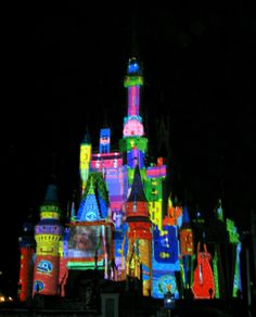 Magic Kingdom - Mickey's Very Merry Christmas Party 2011 - The Magic, The Memories and You Castle Projection Show by jared422_80, via Flickr...