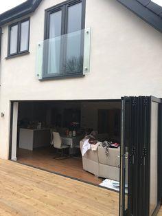 Double glazed windows and doors Nottingham Derby Leicester Interior Paint Colors, Paint Colors For Home, Upvc Windows, Windows And Doors, Anthracite Grey Windows, External Cladding, Balcony Doors, Bungalow Renovation, Grey Doors