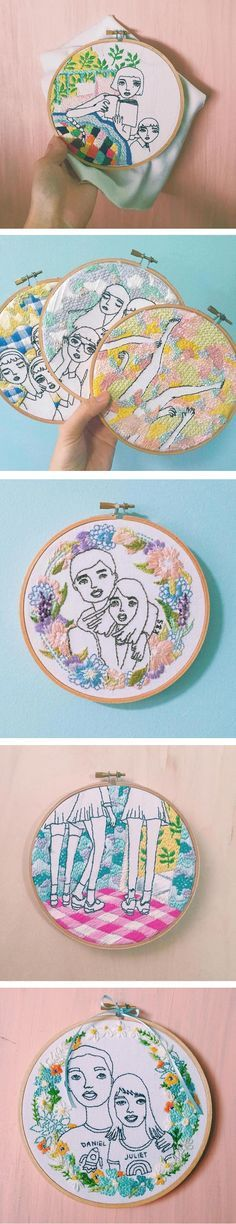 Teresa Lim creates embroideries that are simultaneously lush—full of color and texture—while also mimicking the look of a sketch.