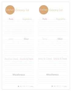 Printable grocery list template. I need this, so I stop forgetting things at the store.