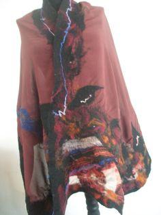 Shawi FashionMerinoWool felted by FeltWorld51 on Etsy, $43.90