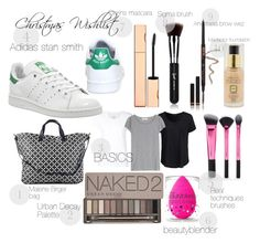 """christmas wishlist 2"" by cornelia-smrecki on Polyvore featuring adidas, Anastasia Beverly Hills, Sigma Beauty, Max Factor, Clarins, beautyblender, By Malene Birger, Max 'n Chester, New Look and Acne Studios"