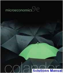 Microeconomics 9th Edition Colander Solutions Manual - Test bank, Solutions manual, exam bank, quiz bank, answer key for textbook download instantly!