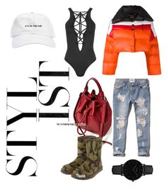 """Summer Styled feat. Zara Bucket Drawstring Bag"" by iamsummerterry on Polyvore featuring Abercrombie & Fitch, WearAll, UGG, Diesel and CLUSE"