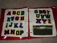 There are a number of ways you could make this page.  I used iron on letters fused onto different pieces of colored felt.  If you could find...
