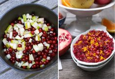 Cranberry Sauce with Pear & Pomegranate