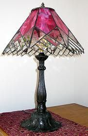 Pink stained glass lamp!