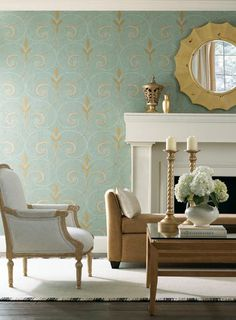Guess I'm partial to blue & gold wall paper . . .