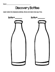 Science Station Discovery Bottles Recording Sheet Free Printable